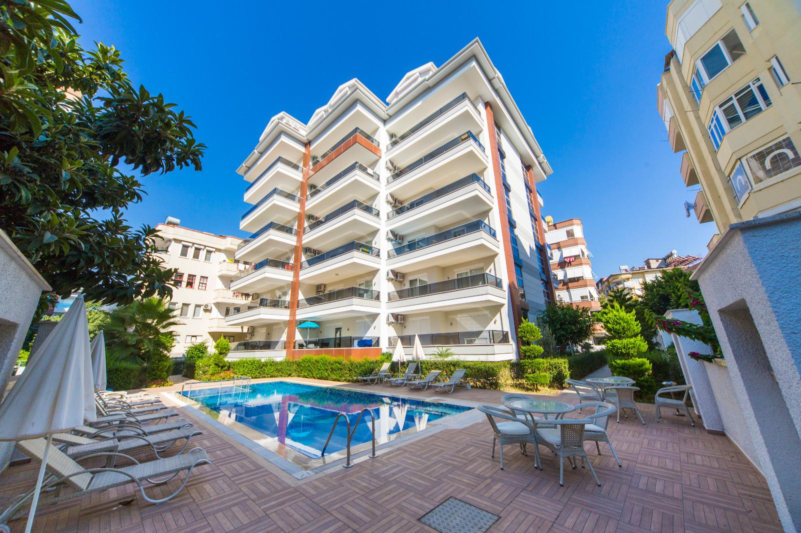 Apartments near Cleopatra beach in the center of Alanya